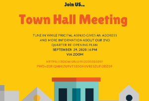 Virtual Town Hall Meeting September 29th 6pm